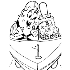 SpongeBob Free Printable Coloring Pages Spongebob Boating Test