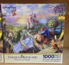 Disney Parks Thomas Kinkade Beauty and the Beast 1000 Piece Puzzle