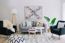 View In Gallery A Touch Of Greenery For Your Chic Scandinavian Living Room Design Claudia Stephenson Interiors
