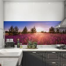 küchenrückwand selbstklebend blumenfeld fliesenspiegel folie