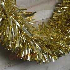 Gold Christmas Tree Tinsel Icicles by 10m X 15cm Luxury Chunky Cut Tinsel Garland Christmas Tree