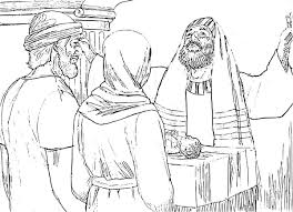 The Presentation Of Jesus At Temple Coloring Pages