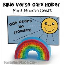 God Keeps His Promises Rainbow Bible Verse Holder Craft For Noahs Ark Lesson