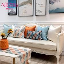 avigers moderne orange blau geometrie gestreiften kissen abdeckungen hause dekorative kissen kissen cases für sofa schlafzimmer wohnzimmer