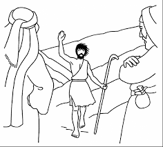 Superb John The Baptist Coloring Pages For Kids With Baptism And