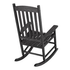 Mainstays Black Solid Wood Slat Outdoor Rocking Chair Durogreen Classic Rocker Black 3piece Plastic Outdoor Chat Set Presidential Recycled Wood Patio Rocking Chair By Polywood Shop Intertional Concepts Slat Seat Palm Harbor Wicker Grey At Home Trex Fniture Yacht Club Charcoal Americana Style Windsor Jefferson Woven With Tigerwood Weave Colby Cophagen Cushioned Rattan Armchair Glider Lounge Cushion Selections Chairs At Lowescom