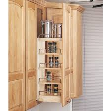 Pantry Cabinet Organization Home Depot by Rev A Shelf 26 25 In H X 8 In W X 10 75 In D Pull Out Wood Wall