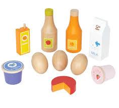 hape healthy basics kid s wooden play kitchen accessories food set