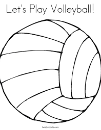 Lets Play Volleyball Coloring Page