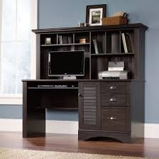 sauder 401634 harbor view antiqued paint computer desk with hutch