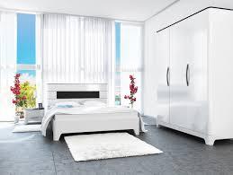 schlafzimmer set verona komplett 4 teilig schwarz weiß hochglanz mdf
