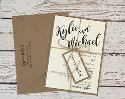 Rustic Wedding Invitation Simple Kit Kraft