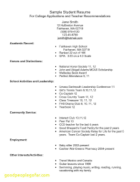 Mba Application Resume Awesome Sample College New Example For Of