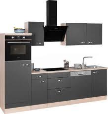 optifit küchenzeile faro mit hanseatic e geräten breite 270 cm