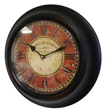 pendule murale cuisine horloge murale en fer avec vitre en plexiglass pendule de cuisine