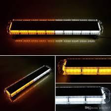 100 Light Bars For Tow Trucks AmberWhite 47 88 LED Bar Emergency Beacon Warn Truck