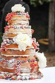 Victorian Sponge Uniced Wedding Cake