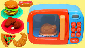 Just Like Home Toy Microwave Oven Play Kitchen Set