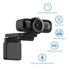 Dericam 1080P Auto Focus Live Streaming Webcam USB Plug And