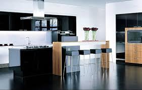 cuisine bois laqué cuisine noir laque et bois waaqeffannaa org design d intérieur