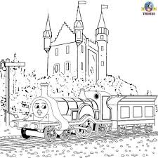 Free Online Thomas The Train Emily Tank Engine And Scottish Castle Coloring Pages For Kids