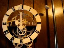 wood gear clock simplicity designed by clayton boyer youtube