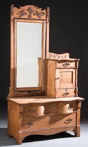 Tiger Oak Dresser Chest by Early 1900s Antique Oak Dresser With Mirror Dresser With Mirror