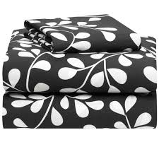 White And Black Bedding by Black With White Vines College Classic Twin Xl 3 Piece Sheet Set