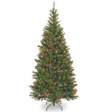 6 Ft Aspen Spruce Artificial Christmas Tree With Multicolor Lights