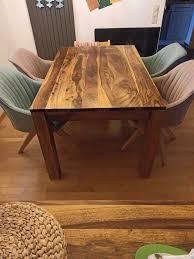 esszimmer tisch aus sheesham holz