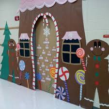 fall door decorations santa christmas door decorating classrooms