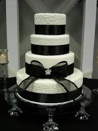 Black And White Wedding Cake Elegant Ivory Cakes