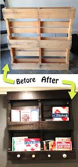 Pallets BEFORE AFTER One Of My Favorite Wooden Pallet Makeovers