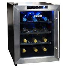 tresanti madison thermoelectric wine cooler cabinet in rose cherry