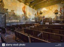 california santa barbara county courthouse mural room stock