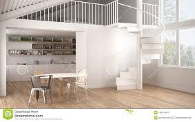 100 Mezzanine Design Minimalist White Kitchen With And Modern Spiral