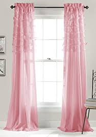 amazon com lush decor avery window curtains 84 by 54 inch pink