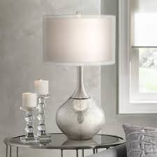 Pottery Barn Crystal Table Lamps by Possini Euro Design Swift Modern Mercury Glass Table Lamp Style