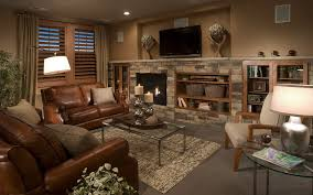 Living Room Traditional With Fireplace And TV Decorator Styled