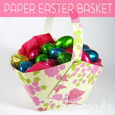 Paper Easter Basket Instructions Homemade Gift Ideas