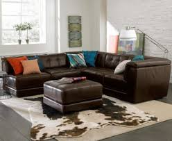 Stacey Leather 5 Piece Modular Sectional Sofa 2 Armless Chairs 2