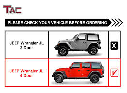 "Amazon.com: TAC 4.25"" Side Steps For 2018 Jeep Wrangler JL 4 Door ..."