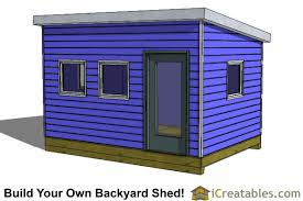 10x14 Garden Shed Plans by 10x14 Modern Shed Plans Office Shed Plans Studio Shed