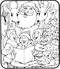 Santa Coloring Pages Christmas Part Two
