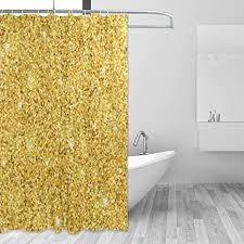 mnsruu duschvorhang hintergrund gold glitzer badezimmer