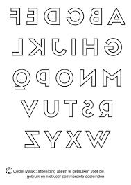 Gratis Sjabloon Van Het Alfabet In Spiegelbeeld Voor Bv Letters Bij