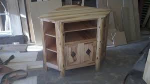 Rustic Corner Entertainment Center