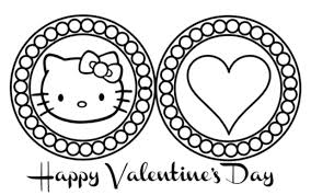Coloring Pages Hello Kitty Mermaid Christmas Games Free Printable Cute Valentines Day Large Size