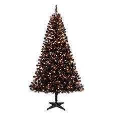 Black Pre Lit Pop Up Christmas Tree by Holiday Time Pre Lit 6 5 U0027 Madison Pine Black Artificial Christmas