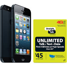 Straight Talk Apple iPhone 5 16GB Black Refurbished Prepaid